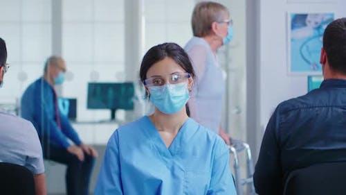 Female Nurse with Face Mask