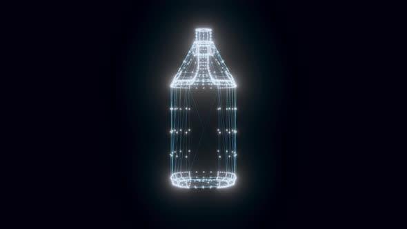 Plastic Bottles Chemistry Hologram Rotating 4k