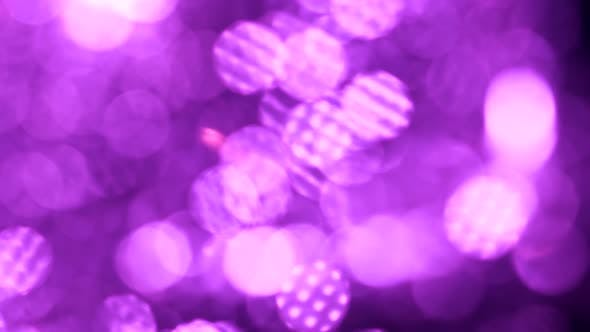 Thumbnail for Big Bokeh Background. Purple or Violet Defocused Circular Facula.