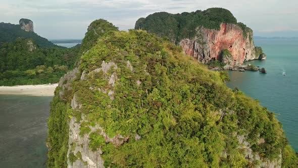 Thumbnail for Pranang Beach Between Rocks, Krabi, Thailand