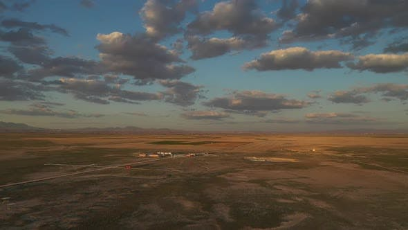 Thumbnail for Plains And Clouds Sunset Aerial View