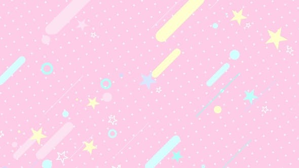 Pink Comic Star
