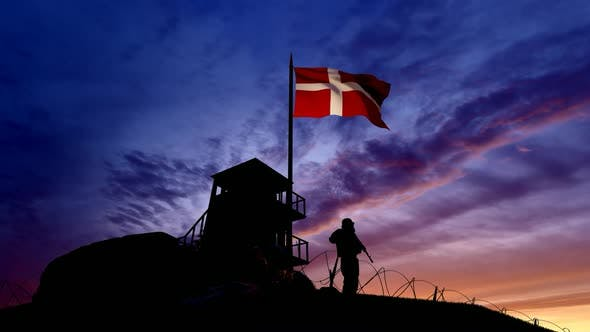 Thumbnail for Danish Soldier On The Border At Night At The Border