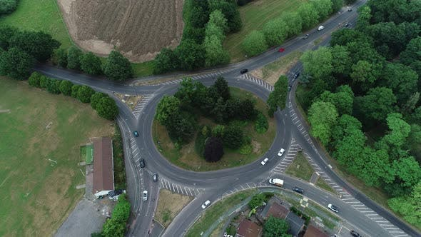 Aerial Roundabout In Great Britain