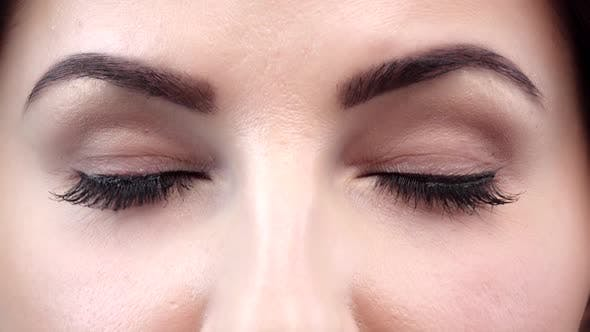 Thumbnail for Beauty with Perfect Natural Makeup Blinking