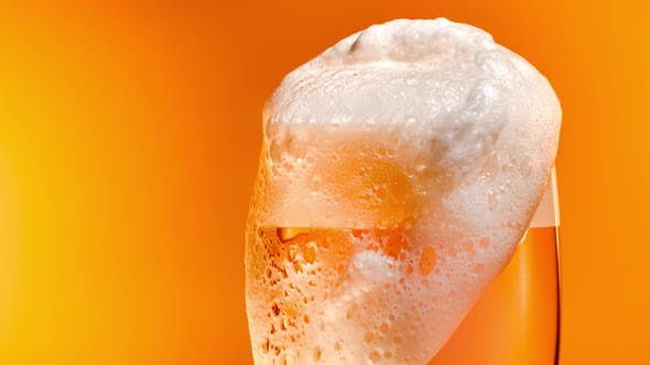 Thumbnail for Lager Beer Settles in the Glass