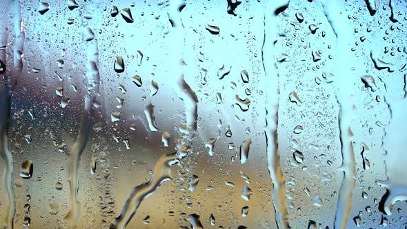 Thumbnail for Heavy Rain Drop on Window