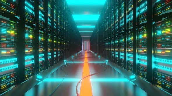 Thumbnail for Serverraum im Rechenzentrum voll mit PC-Racks
