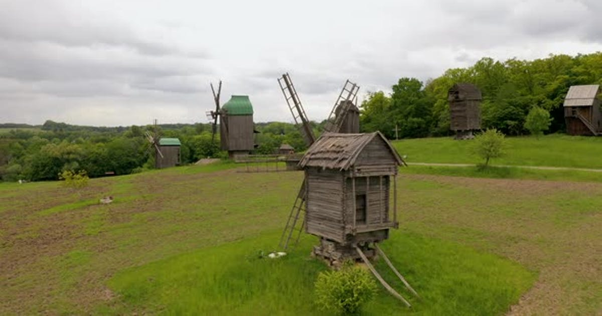 Old Wooden Windmills