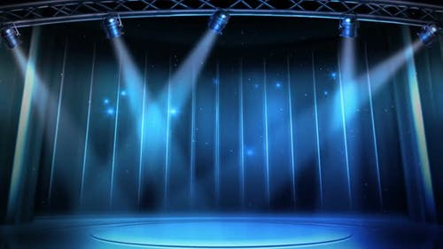 Blue Spotlight Virtual Entertainment Studio