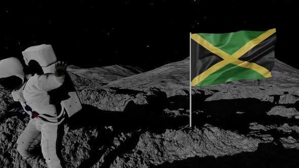 Thumbnail for Astronaut Planting Jamaica Flag on the Moon