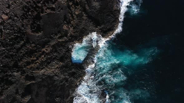Thumbnail for Drone Over Sea Crashing Coastline