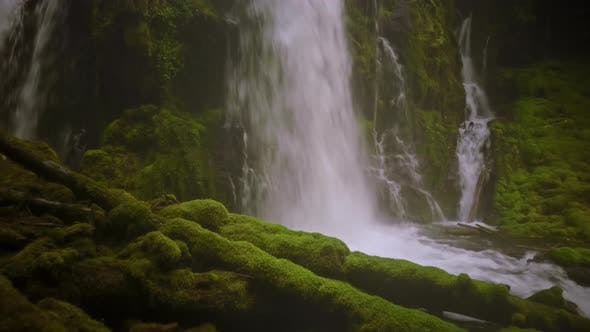 Thumbnail for Aerial Shot Of A Waterfall In Oregon