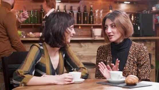 Thumbnail for Beautiful Young Women Gossip in a Coffee Shop