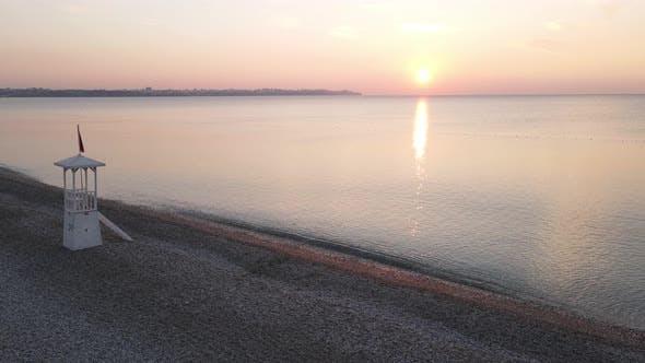 Thumbnail for Luftaufnahme der Morgendämmerung über dem Meer