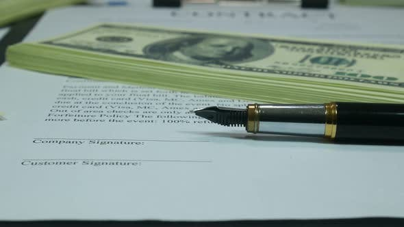 Thumbnail for Contract And Financial Investments In Dollars