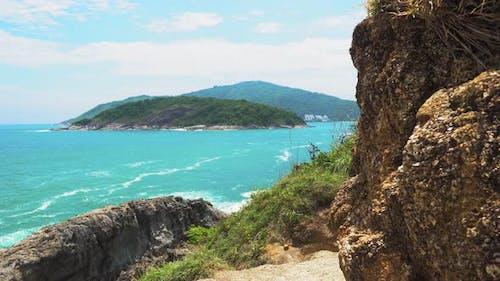 Tropical Exotic Island, Seascape, Blue Warm Sea, Travel and Tourism