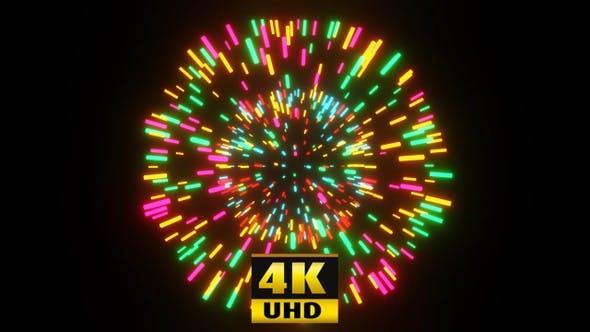 Pulsating Neon Ball Vj Loop 4K