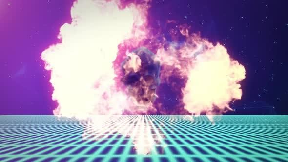 Thumbnail for Skull Explosion Smoke 4K