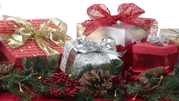 Thumbnail for Panning view of gifts on a table