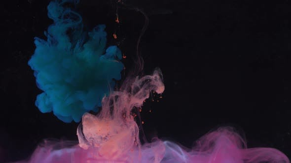 Thumbnail for Colorful Paint Drops Mixing in Water