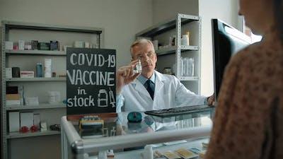 Covid19 Vaccine in Pharmacy Stock