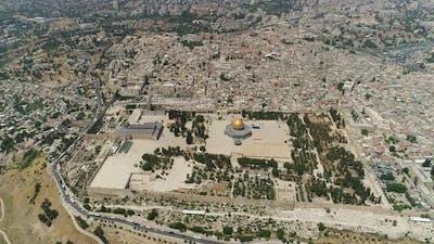 Aerial shot of Jerusalem