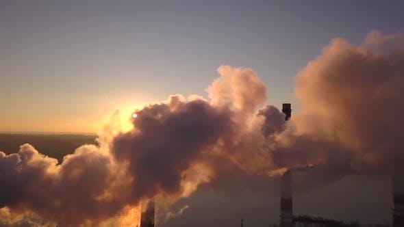Thumbnail for Smoking Chimneys at Sunset