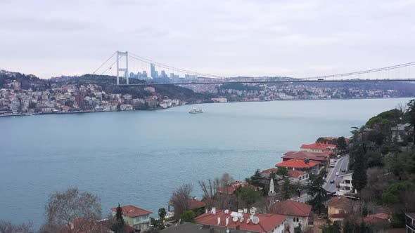 Thumbnail for Istanbul Bosphorus Aerial View 16