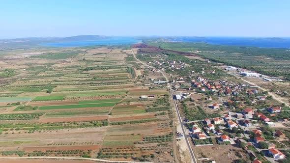 Thumbnail for Aerial view of agriculture in dalmatia, Croatia