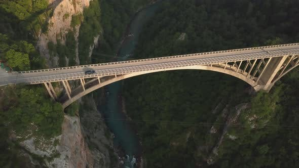 Thumbnail for Djurdjevic Bridge Over the Tara River in Northern Montenegro. Aerial Footage