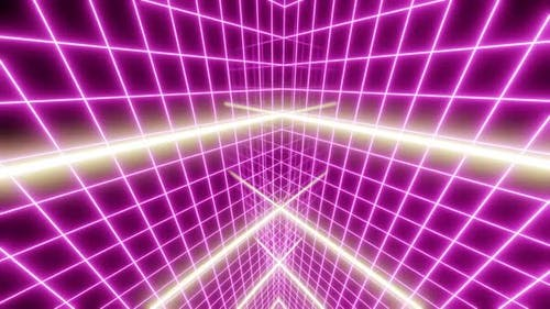 80's Grid Light Retro 03 HD