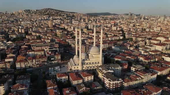 Thumbnail for Mosque Overhead Aerial Drone Shot