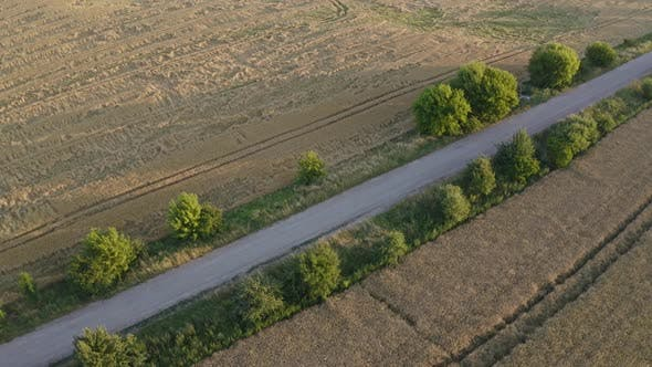Thumbnail for Aerial View Road Near The Field
