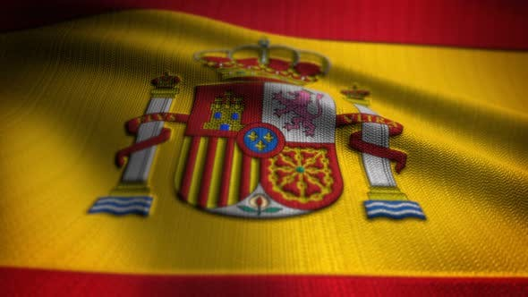 Thumbnail for Spain Flag Seamless Loop