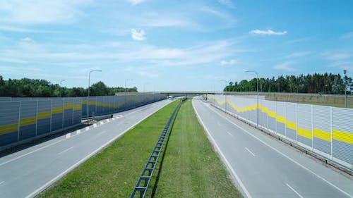 Intercity road with weak traffic