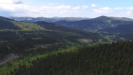 Thumbnail for Aerial view on Mountain Valley