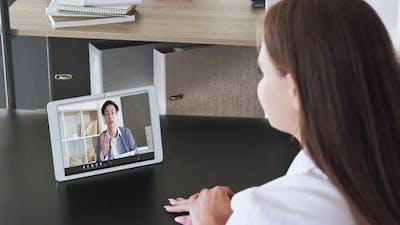 Online Learning Teacher Video