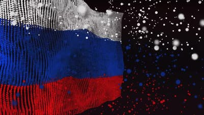 Russian Flag Particle Animation