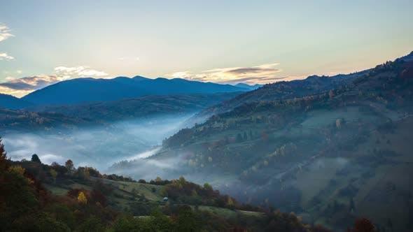 Thumbnail for Foggy Sunrise Time Lapse