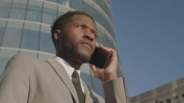 Handsome Businessman Having Telephone Talk