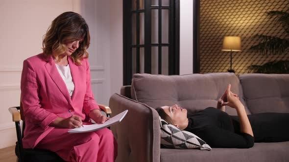 Thumbnail for Woman Lying on Sofa at Psychotherapist