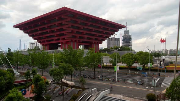 Thumbnail for China Pavilion at Expo 2010 As Shanghai Art Museum Timelapse