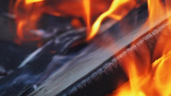 Thumbnail for Bright Burning Wood Slow Motion
