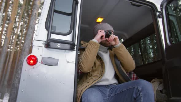 Thumbnail for Tourist Taking Photos from Car
