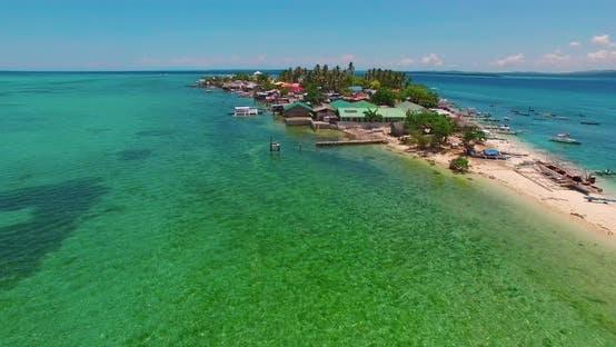 Thumbnail for Flight Over the Island. Pandanon Island. Cebu. 03.2016. Aerial