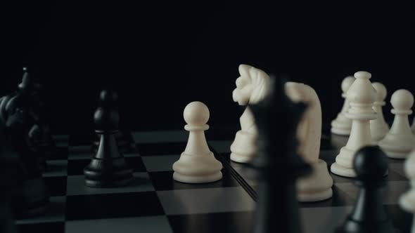 Thumbnail for Chess pieces on a chessboard