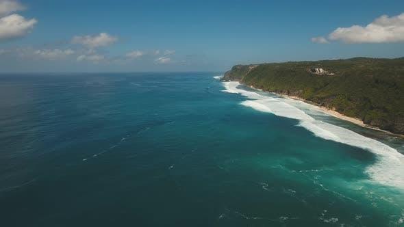 Aerial View Beautiful Beach