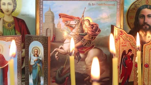 Thumbnail for Christian Icons And Candles