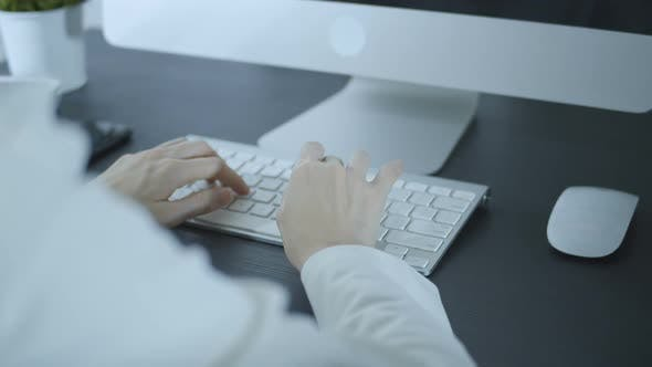 Secretary Using Computer